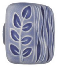 Acorn Manufacturing Large Square Blue / Blue Sea Grass Cabinet Knob