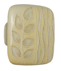 Acorn Manufacturing Large square Yellow w/Gold Sea Grass Cabinet Knob