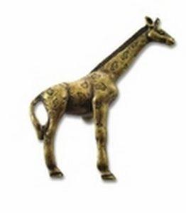 Big Sky Hardware-Animal Giraffe Cabinet Knob Antique Brass