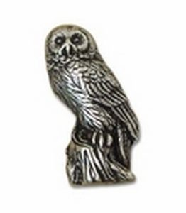 Big Sky Hardware-Animal Owl Cabinet Knob Pewter