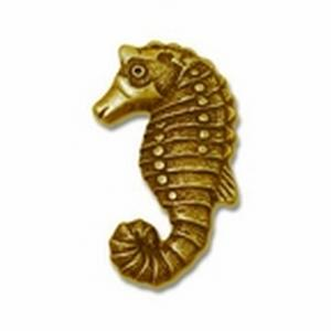 MNG DESIGNER HARDWARE-Animal Sea Horse Brass Antique