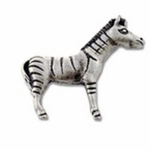 Big Sky Hardware-Animal Zebra Cabinet Knob Prewter
