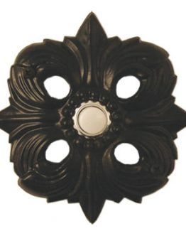 Waterwood Hardware Decorative Avalon Doorbell- Black