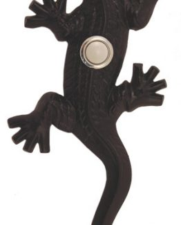 Waterwood Hardware Decorative Lizard ( Gecko )Doorbell-Black