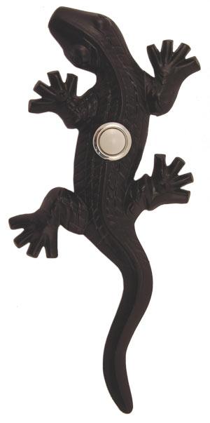 Waterwood Hardware Decorative Lizard ( Gecko )Doorbell-Black