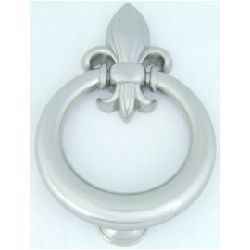 Atlas Homewares Fleur D'Lys  Door Knocker, Brushed Nickel
