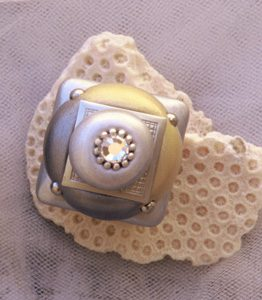 Susan Goldstick Gold Duo Square Decorative Cabinet Knob