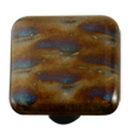 Hot Knobs Metal Glass Cabinet Knob Patterned Irid