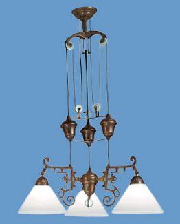 Architects & Heroes Interiors  Three-Light Bistro Aged Brass