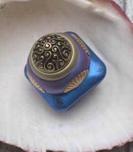 Susan Goldstick Lapis/Periwinkle Mini Tudor Decorative Cabinet Knob