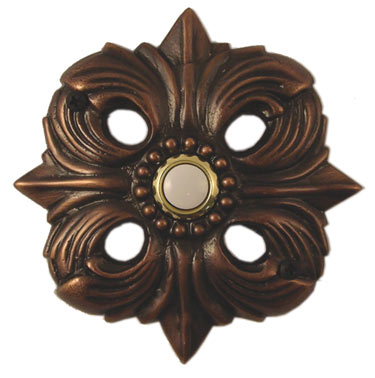Waterwood Hardware Decorative Avalon Doorbell- Oil Rubbed Bronze