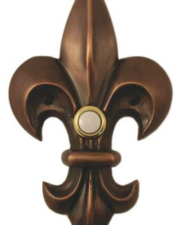 Waterwood Hardware Decorative Fleur Di Lis Doorbell-Large - Oil Rubbed Bronze