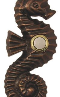 Waterwood Hardware Decorative Seahorse Doorbell-Oil Rubbed Bronze