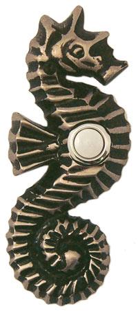 Waterwood Hardware Decorative Seahorse Doorbell-Pewter