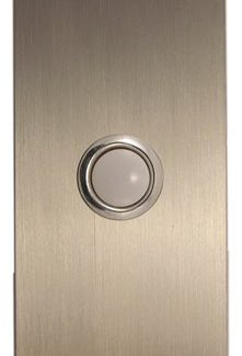 Waterwood Hardware Stainless Steel Large Rectangular Doorbell