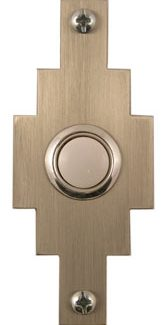 Waterwood Hardware Stainless Steel Santa Fe Shape Doorbell