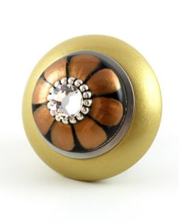 Susan Goldstick Mini Tiki Light Gold 2 inch Cabinet Knob