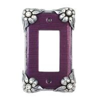 Susan Goldstick Bloomer Violet Single Decora Switch plate