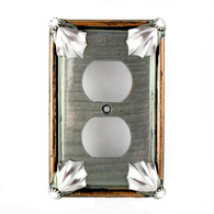 Susan Goldstick Cleo Deep Opal Duplex Outlet Switch Plate