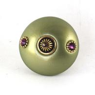 Susan Goldstick Mini 1 Jade Swarovski Amethyst Crystals Cabinet Knob