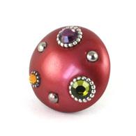 Susan Goldstick MINI STYLE #6 KNOB RUBY 2 INch Cabinet Knob