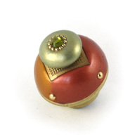 Susan Goldstick Nu Duo Copper Deep Gold 1.5 inch Cabinet Knob