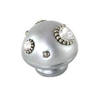Susan Goldstick Nu Mini 6 Silver Swarovski Crystals Cabinet Knob