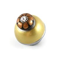 Susan Goldstick Nu Tiki Light Gold 1.5 inch Cabinet Knob
