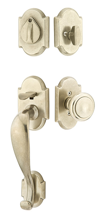 Emtek Door Hardware Sandcast Bronze Tubular Entry Handleset Denver Dummy