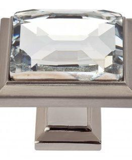 Atlas Homewares Legacy Crystal Square Cabinet Knob Brushed Nickel