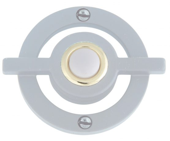 ATLAS HOMEWARES AVALON DOOR BELL BRUSHED NICKEL