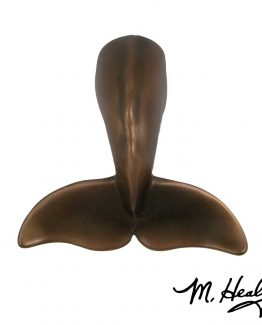 Michael Healy Whale Tail Door Knocker - Oiled Bronze-Premium