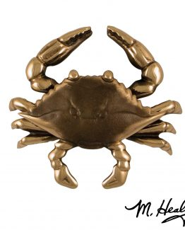 Michael Healy Designs Blue Crab Door Knocker - Bronze-Premium