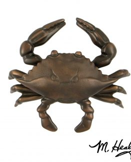 Michael Healy Designs Blue Crab Door Knocker - Oiled Bronze-Premium