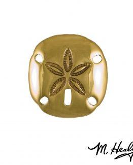 Michael Healy Designs Sand Dollar Door Knocker - Brass-Premium