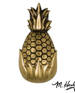 Michael Healy Hospitality Pineapple Door Knocker - Brass- Premium