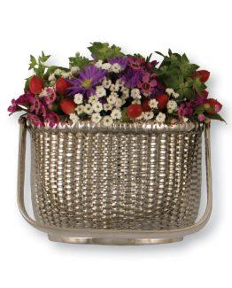 Michael Healy Nantucket Basket Door Knocker - Nickel Silver-Premium