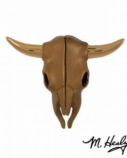 Michael Healy Designs Steer Skull Door Knocker - Brass/Bronze
