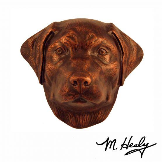 Michael Healy Designs Labrador Retriever Door Knocker Oiled Bronze