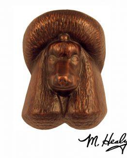 Michael Healy Designs Poodle Door Knocker Oiled Bronze