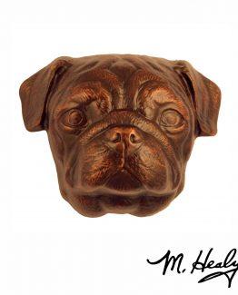 Michael Healy Designs Pug Door Knocker Oiled Bronze