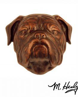 Michael Healy Designs Bulldog Door Knocker Oiled Bronze