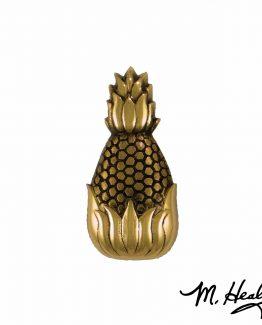 Michael Healy Designs Hospitality Pineapple Doorbell Ringer Brass