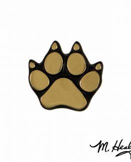 Michael Healy Designs Dog Paw Doorbell Ringer Brass