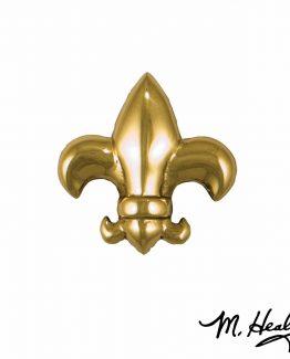 Michael Healy Designs Fleur de Lys Doorbell Ringer Brass