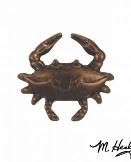 Michael Healy Designs Blue Crab Doorbell Ringer Oil Rubbed Bronze