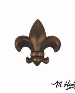Michael Healy Designs Fleur de Lys Door Knocker - Oiled Bronze