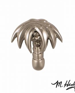 Michael Healy Designs Palm Tree Doorbell Ringer Nickel Silver