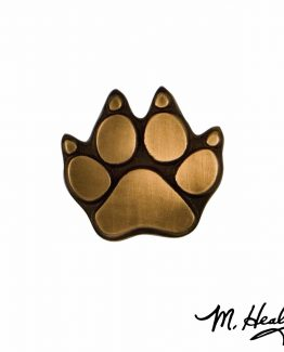 Michael Healy Designs Dog Paw Doorbell Ringer Bronze