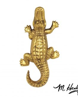 Michael Healy Designs Alligator Doorbell Ringer Brass
